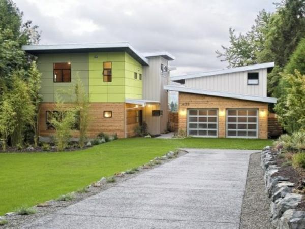 Fassadengestaltung Einfamilienhaus - Ideen und Bilder - fassadenfarbe beispiele