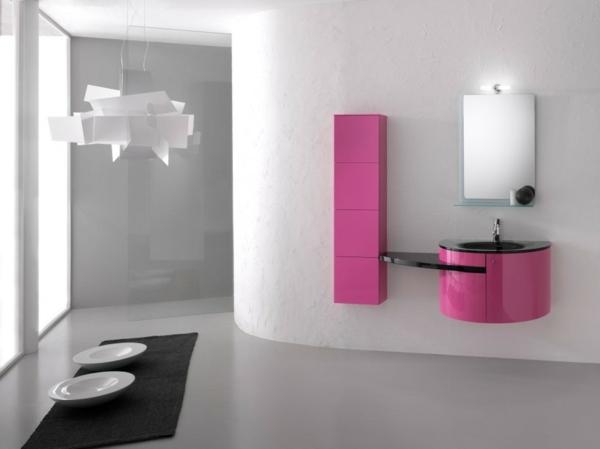 Wandfarbe Badezimmer - frische Ideen für kleine Räumlichkeiten - badezimmer pink
