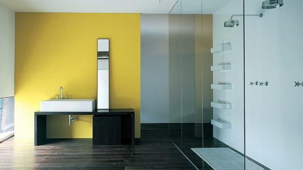 Wandfarbe Badezimmer - frische Ideen für kleine Räumlichkeiten - badezimmer farbgestaltung