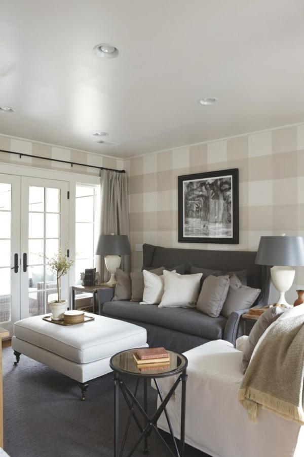 Wohnzimmer Wandgestaltung Ideen - coole Beispiele für Tapetenmuster - muster wohnzimmer
