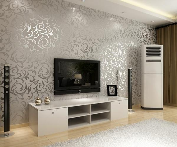 Wohnzimmer Wandgestaltung Ideen - coole Beispiele für Tapetenmuster - wandgestaltung wohnzimmer beispiele