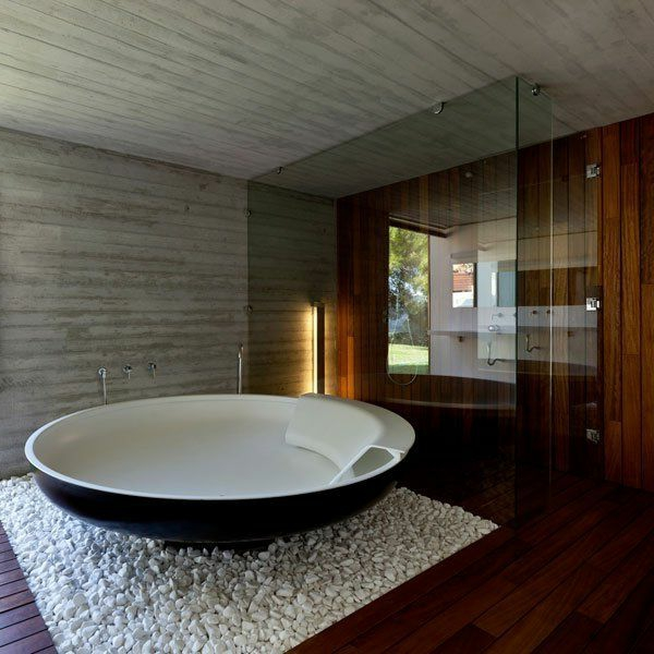 Freistehende Badewanne