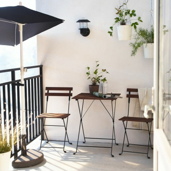 Frühlingsdeko basteln - den kleinen Balkon frisch gestalten - mini balkon gestalten