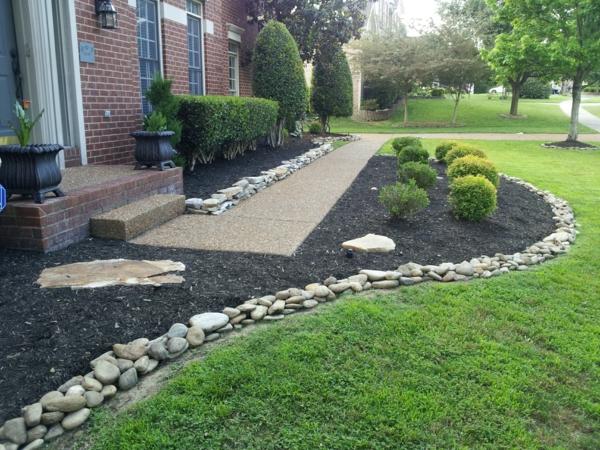 Den Garten mit Steinen gestalten - Schöne Gartengestaltungsideen - garten gestalten bilder