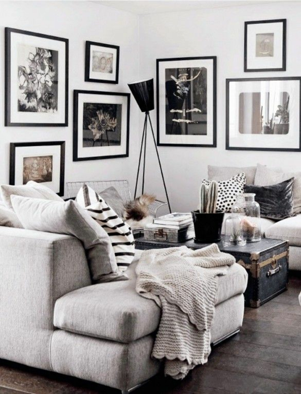 Wohnzimmer Ideen Grau Wei Images Dekoration Grau Wei Mbelideen - wohnzimmer ideen schwarz weiss grau