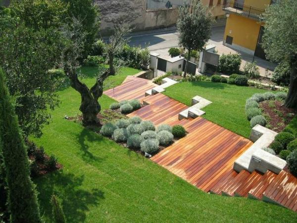 Garten am Hang anlegen und schöne Hangbeete bepflanzen - gartengestaltung hanglage