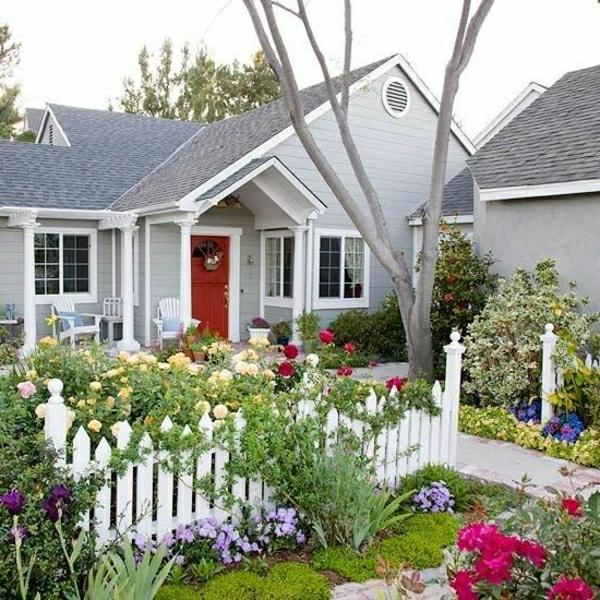 Kleinen Vorgarten gestalten - 25 inspirierende Beispiele - kleinen vorgarten gestalten