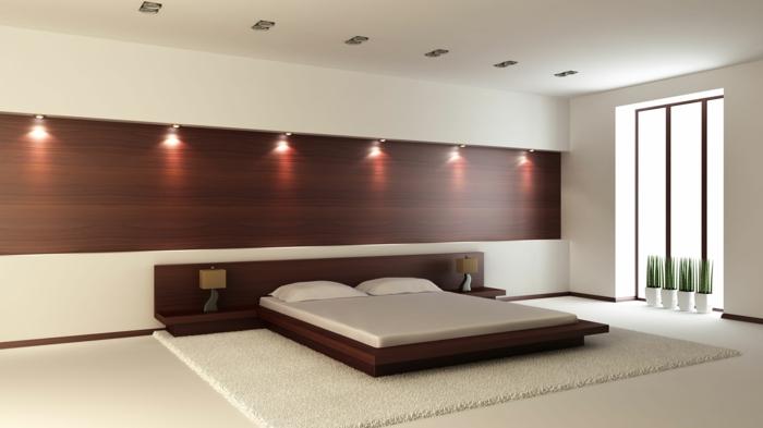 Ziemlich Bett Mit Minimalistisch Grauem Design Bilder Galerie - Die ...