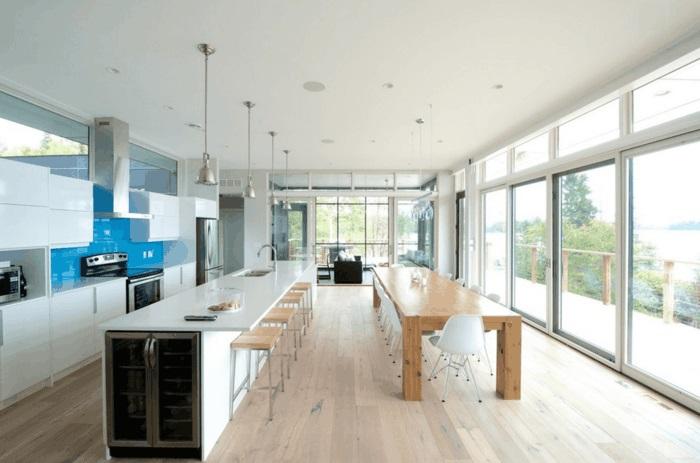 Ist Die Kücheninsel Ein Muss?   30 Küchen Mit Kochinsel Als   Moderne  Kucheninsel Kuchengestaltung