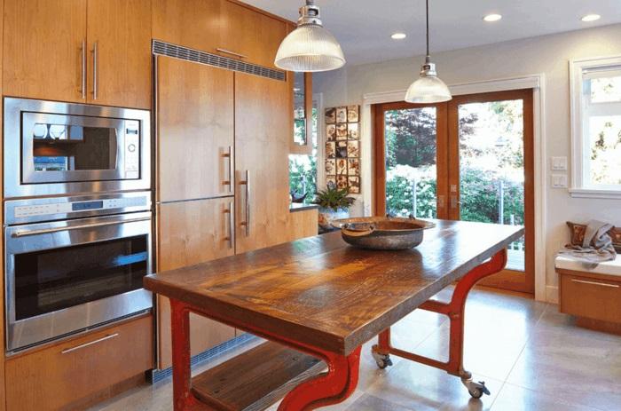 Ist Die Kücheninsel Ein Muss?   30 Küchen Mit Kochinsel Als   Kucheninsel  Auf Rollen
