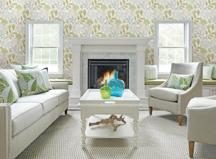 71 Wohnzimmer Tapeten Ideen, wie Sie die Wohnzimmerwände beleben - muster wohnzimmer
