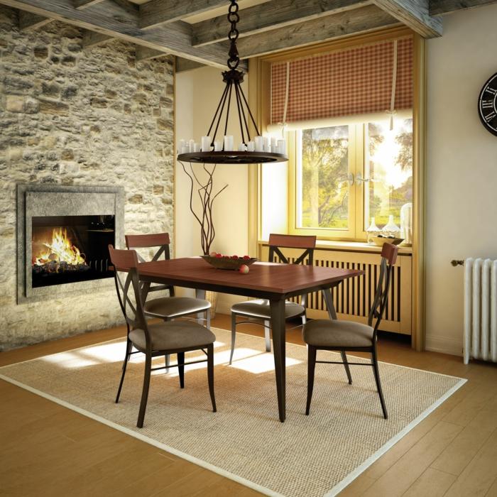 Esszimmer einrichten - Inspirierende Ideen für das Speisezimmer - esszimmer mit kamin