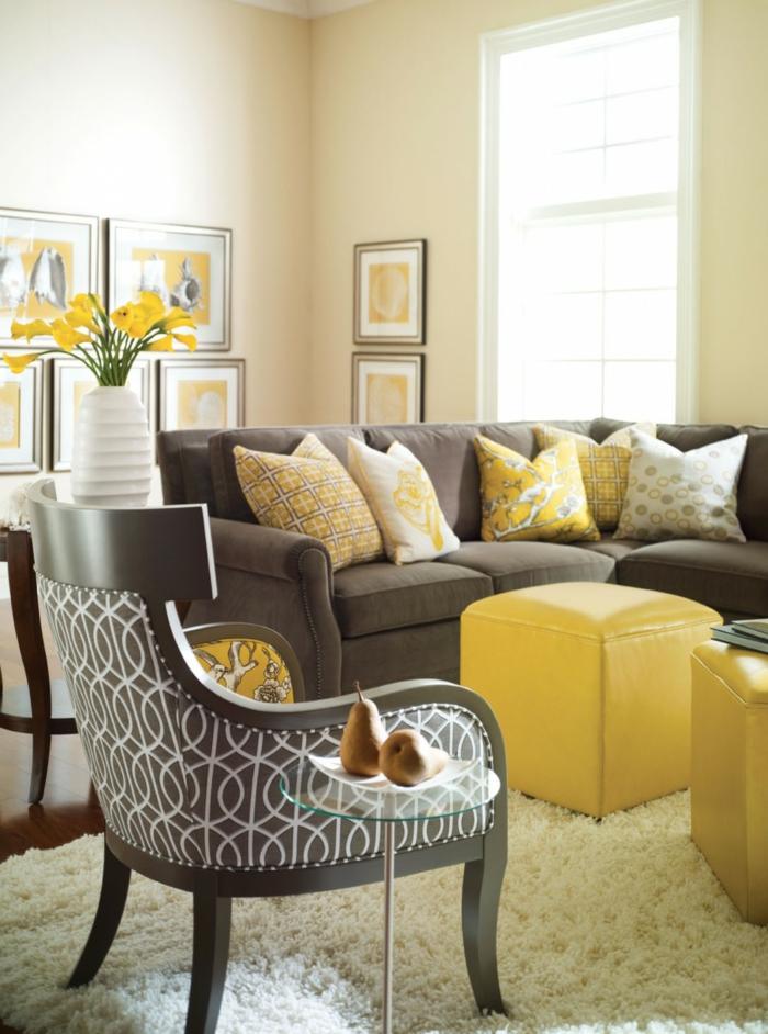 Wohnzimmer Gelb - Wohndesign