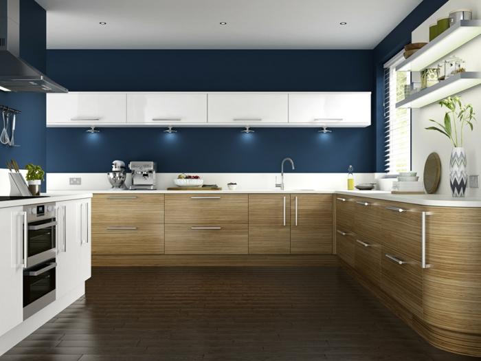 Wandfarbe Küche auswählen - 70 Ideen, wie Sie eine wohnliche Küche - ideen kuche
