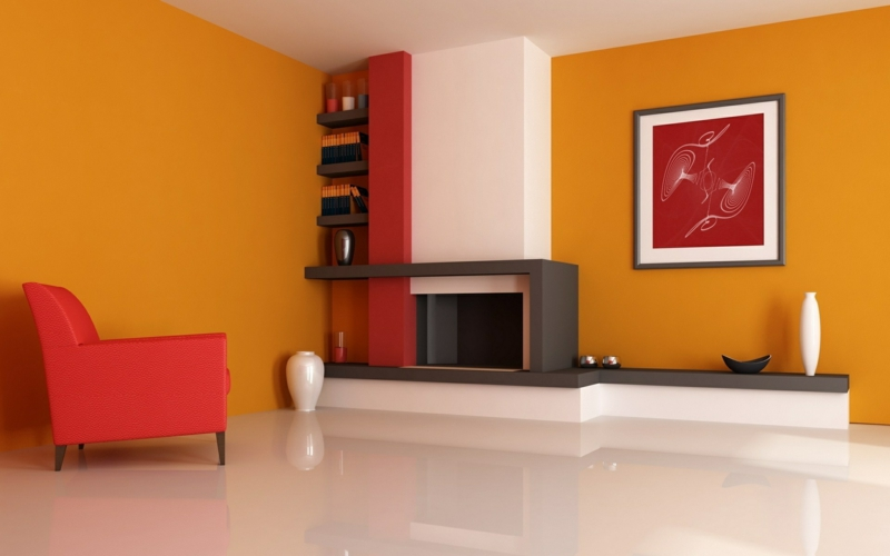 stunning wohnzimmer rot orange contemporary - house design ideas ... - Wohnzimmer Rot Orange
