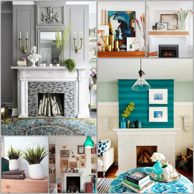 45 Kamin Deko Ideen So können Sie den Kaminsims kreativ dekorieren - dekoration wohnzimmer bilder