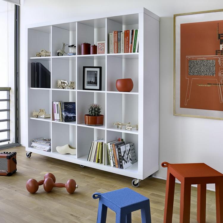 bucherregale aus holz privatausstellung wohnzimmerwand | hausdesign ...