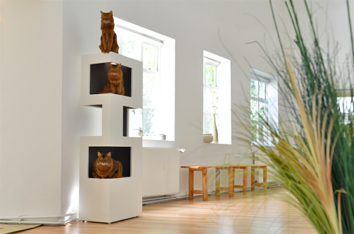 Kratzbaum Modernes Design Katzenbaum The One - Cooles Design Und Optimaler Komfort
