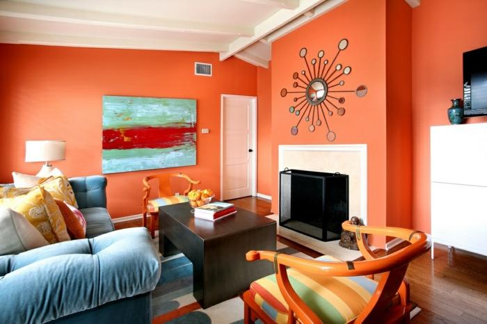 wohnzimmer orange ? eyesopen.co - Wohnzimmer Orange Schwarz