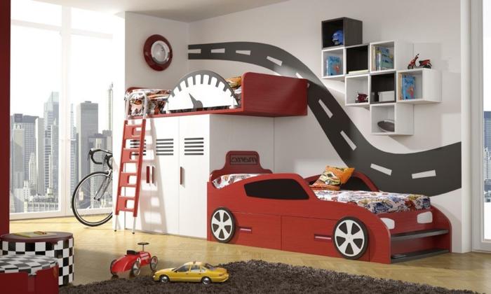 Kinderzimmer Junge Wandgestaltung Auto gerakacehinfo - kinderzimmer junge auto