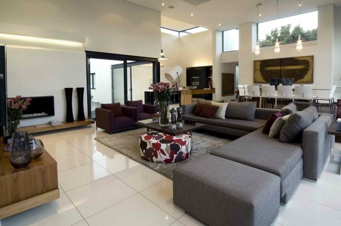 Wohnzimmer modern einrichten - 59 Beispiele für modernes Innendesign - groses wohnzimmer einrichten