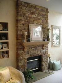 Steinwand Wohnzimmer - 43 Beispiele, wie Steine auf das ...