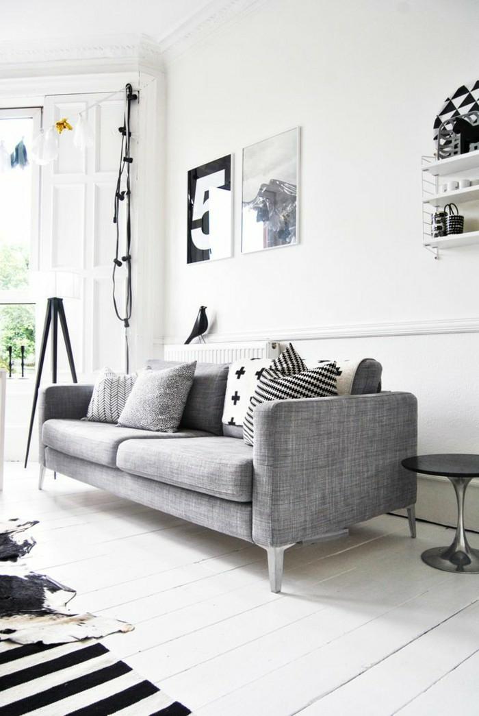 Wohnideen wohnzimmer graues sofa  wohnideen in grau | stolarna.info