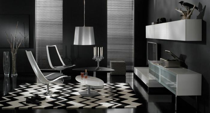 Stunning Raumgestaltung Schwarz Weis Wohnzimmer Gallery - New Home ...