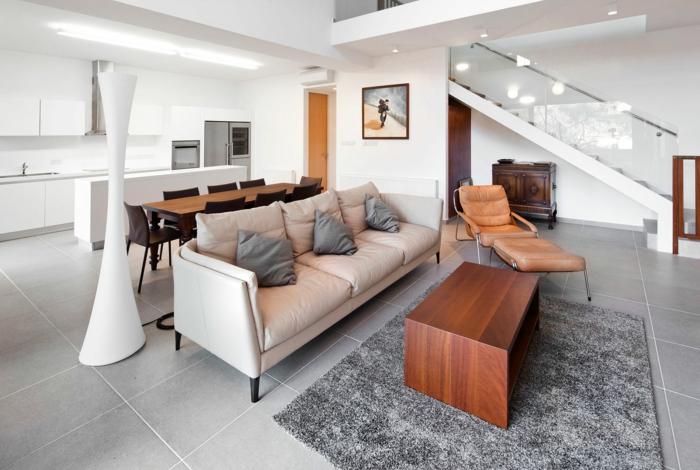 Wohnzimmer Fliesen - 86 Beispiele, warum Sie den Wohnzimmerboden - fliesen grau wohnzimmer
