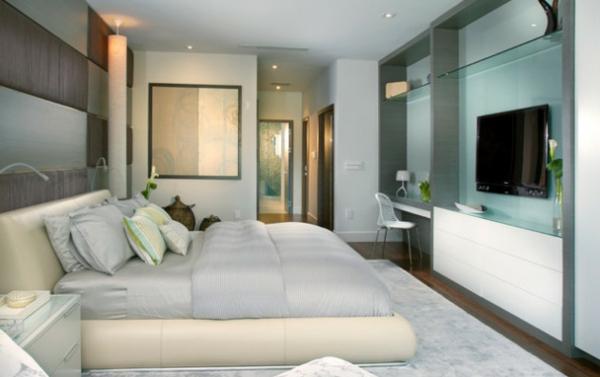 fernseher an der wand im schlafzimmer | hausdesign.paasprovider.com