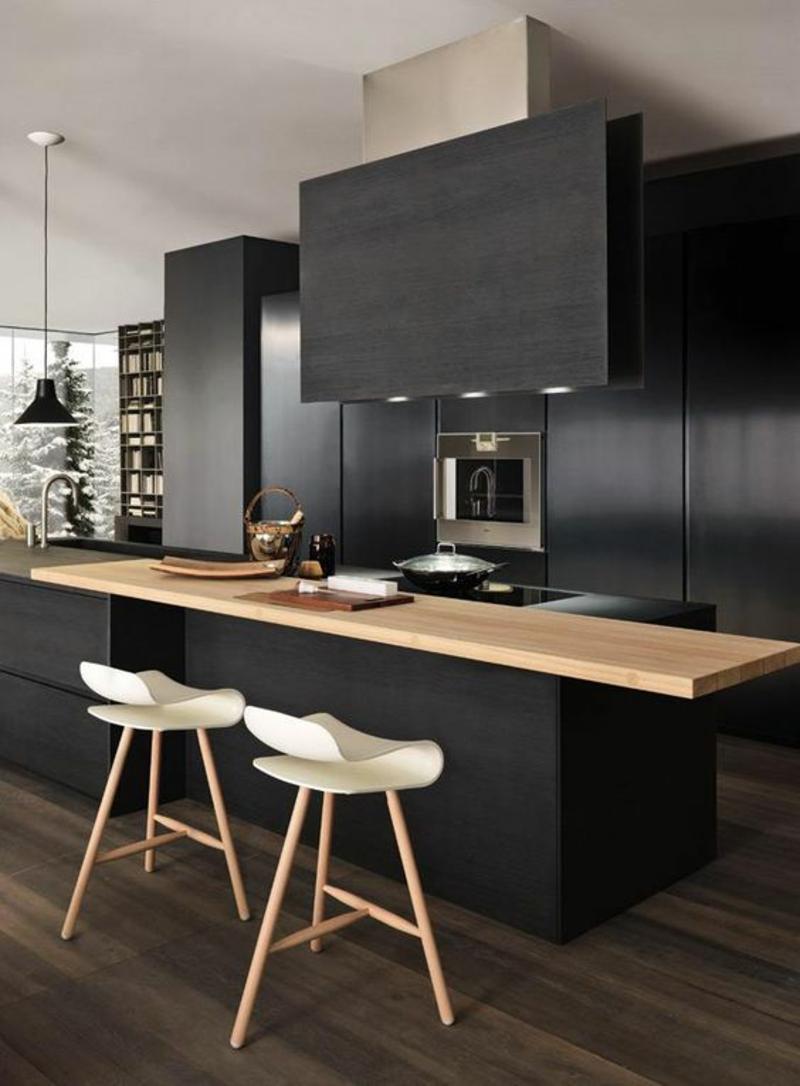 Arbeitsplatte Küche Holz Schwarz   Hochglanz Arbeitsplatte Schwarz ...