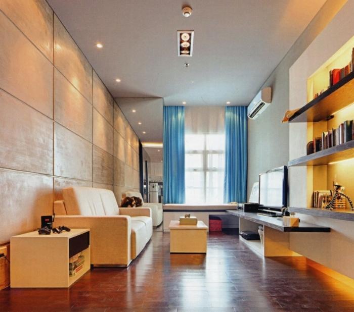 Wohnzimmer Beige gestalten - 60 Beispiele, wie Sie das besser machen - wohnzimmer beige blau