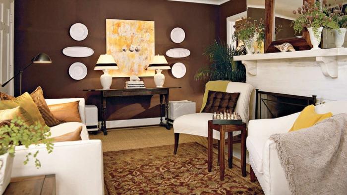 Wohnzimmer Braun - 60 Möglichkeiten, wie Sie ein braunes - wohnzimmer einrichten brauntone