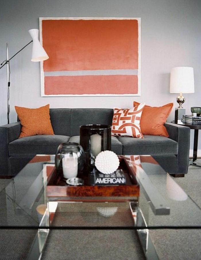 Beautiful Wohnzimmer Orange Grau Ideas - Home Design Ideas ...