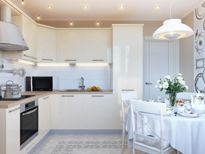 Küche streichen - 60 Vorschläge, wie Sie eine cremefarbige Küche - ideen kuche