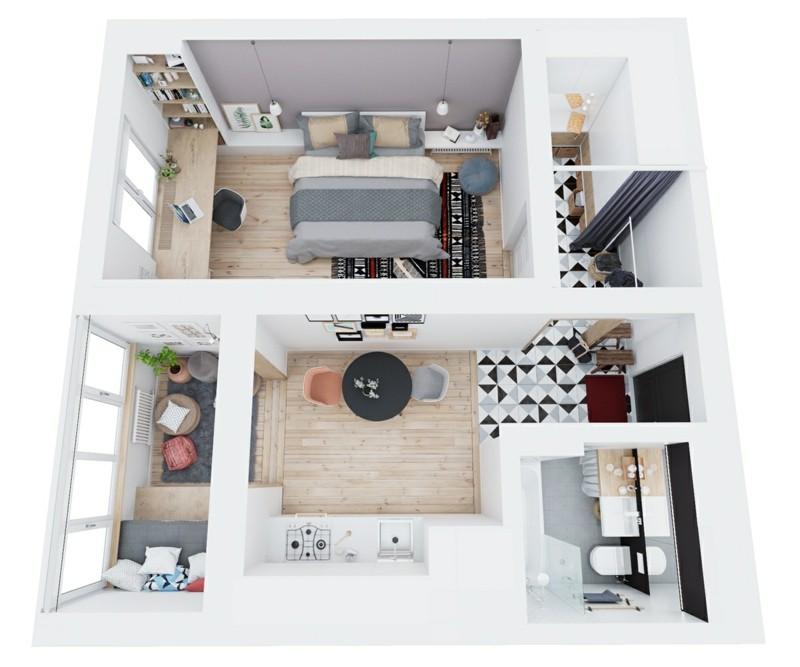 Kleine Wohnung einrichten clevere Einrichtungstipps - 50 qm wohnung einrichten