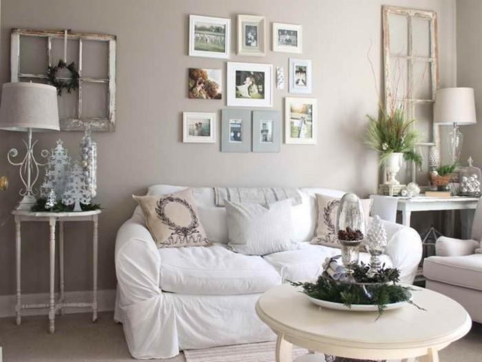 Wände dekorieren - 43 Wanddeko Ideen mit Leinwänden, Tellern und Fotos - dekoration wohnzimmer bilder