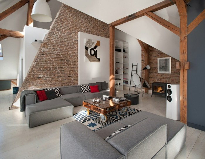 Awesome Futuristisches Interieur Loft Wohnung Contemporary - Amazing ...