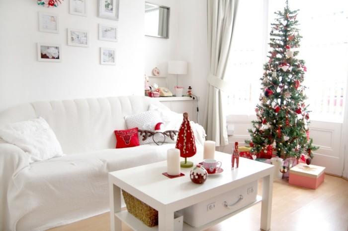 Wohnzimmer Gestaltung und Dekoideen zu Weihnachten, wie Sie - wohnzimmer deko ideen