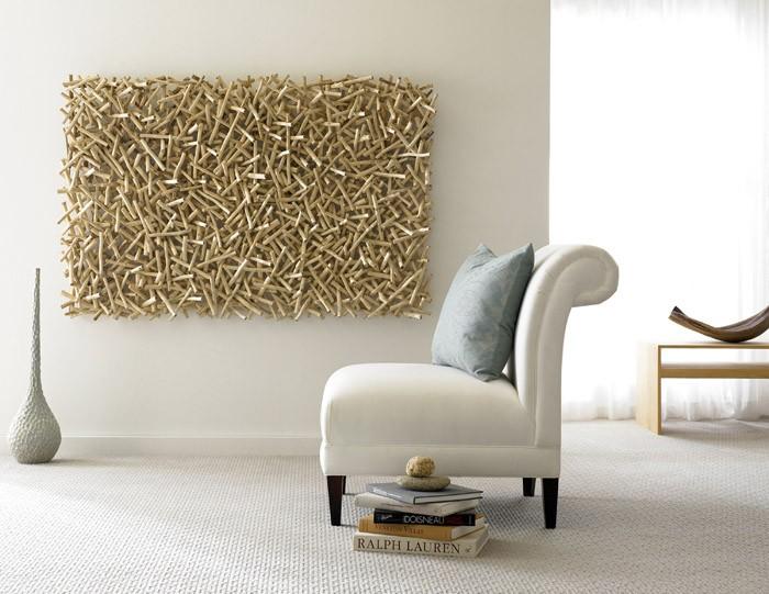 Holzkunst und kreative Wandgestaltung- 29 Wanddeko Ideen - kreative wandgestaltung