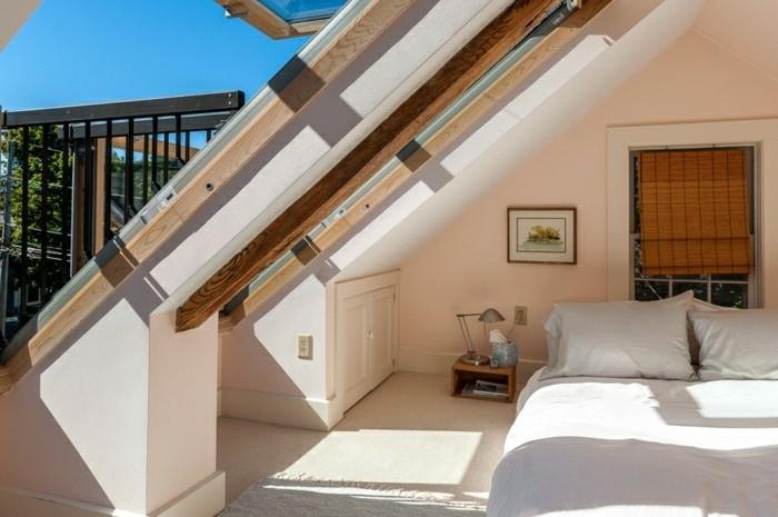 Schlafzimmer Dachschräge - 33 Ideen für den Schlafbereich auf dem Dach - schlafzimmer dachschrage einrichten