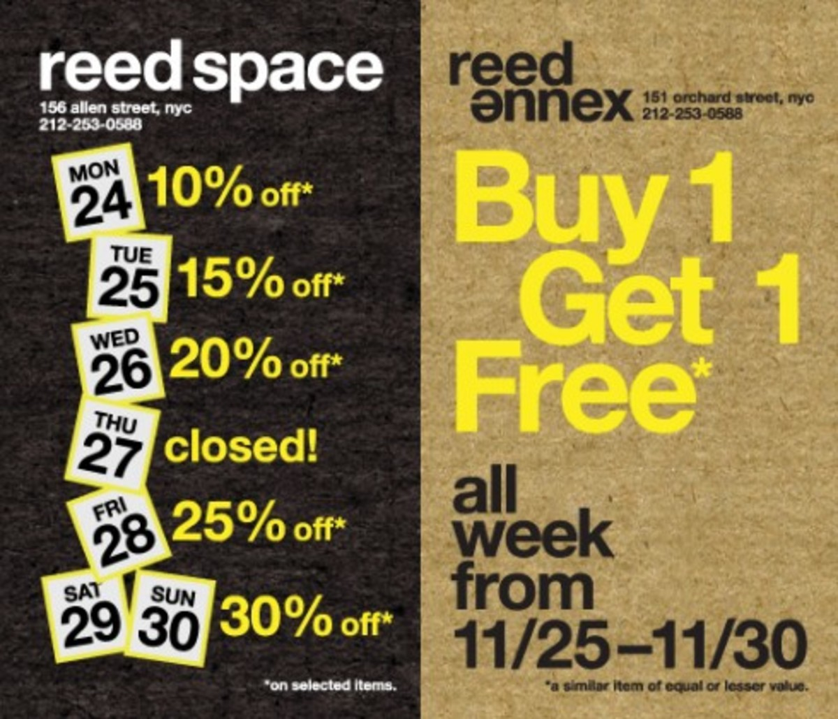 Black Week Sale Reed Space Reed Annex Black Friday Week Sale Freshness Mag