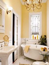 25 Cool Yellow Bathroom Design Ideas | Freshnist