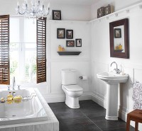 Small White Colored Bathrooms To Get A Huge Functions ...