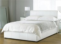 Beautiful White Color Leather Beds By Time4Sleep | Freshnist