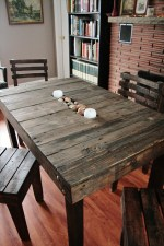 DIY Plans Decorating Your Food Area On Pallet Dining Table