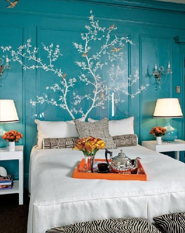 Petrol Wandfarbe Schlafzimmer 12 Fabulous Look Teal Bedroom Ideas | Freshnist