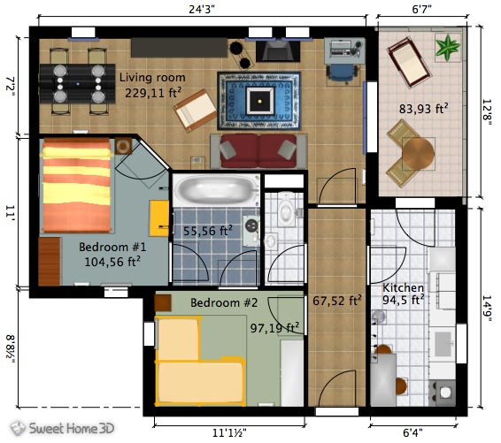 AutoDesk DragonFly u2014 Online 3D Home Design Software Room layout - project plan sample