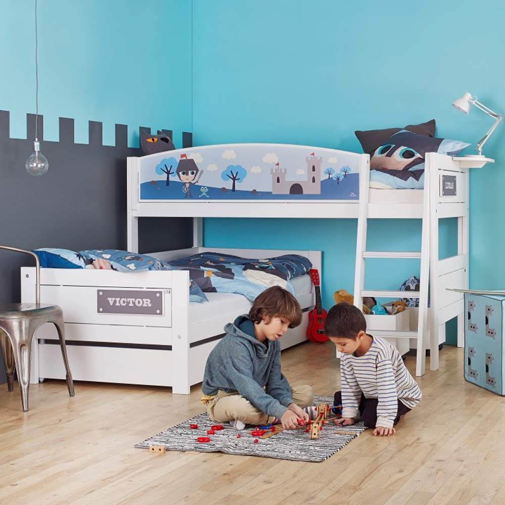 Childrens Beds With Pull Out Bed Underneath Lovely Range Of Themed Children S Beds Mixing Fun Play And Rest
