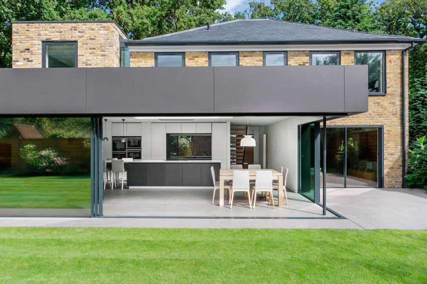 Modern Extension Enriches Neo Georgian Home In London